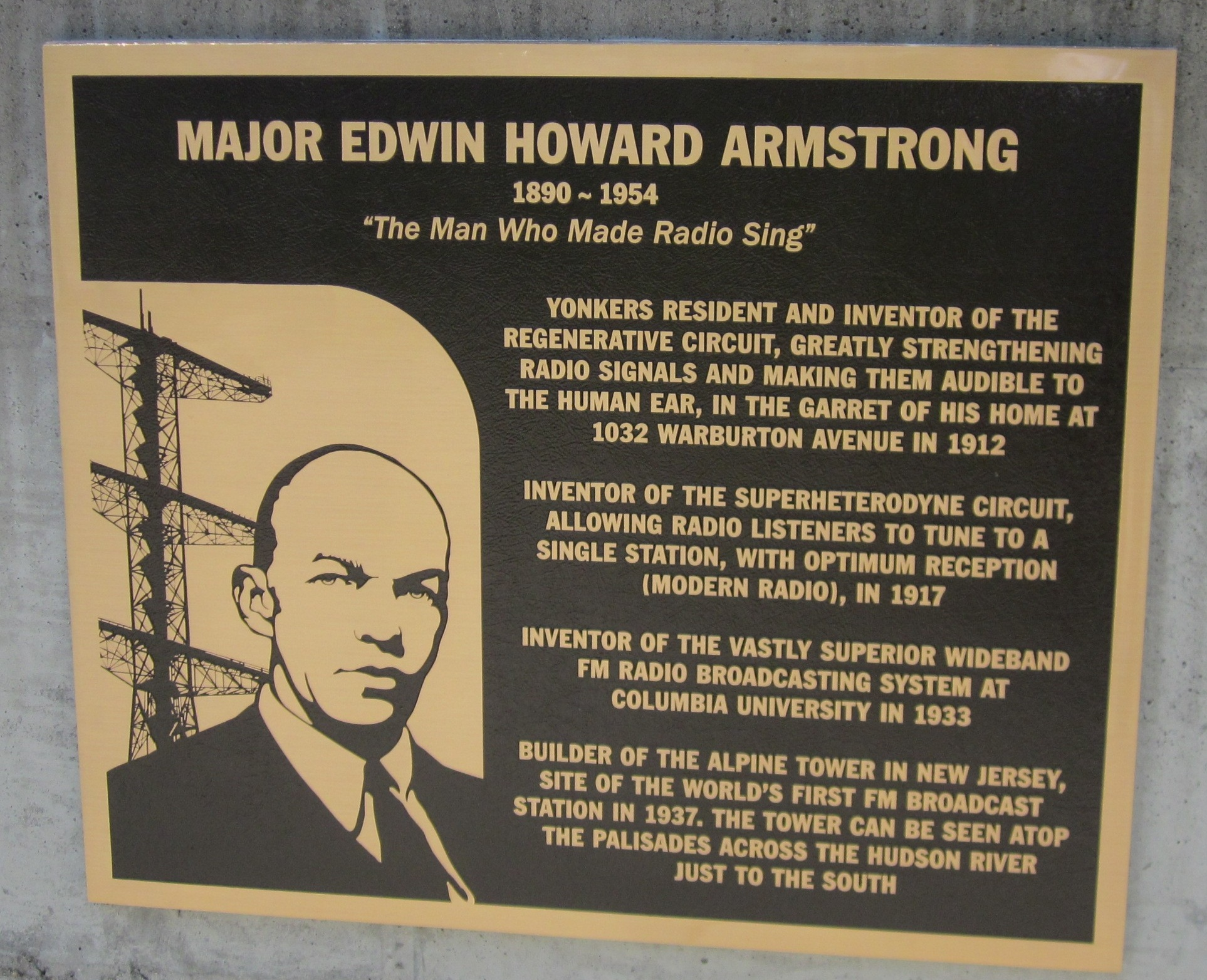 Edwin Armstrong Plaque